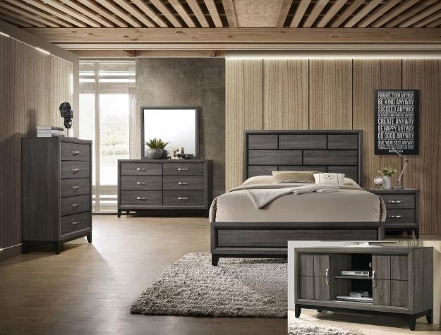 Akerson Gray 7-teiliges Queen-Schlafzimmer-Set - United Furniture Outl