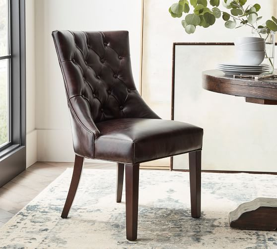 Hayes Tufted Leather Dining Chair |  Keramik Ba